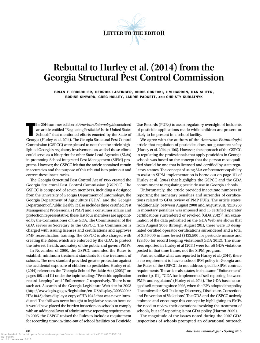 pdf regulating pesticide use in united states schools