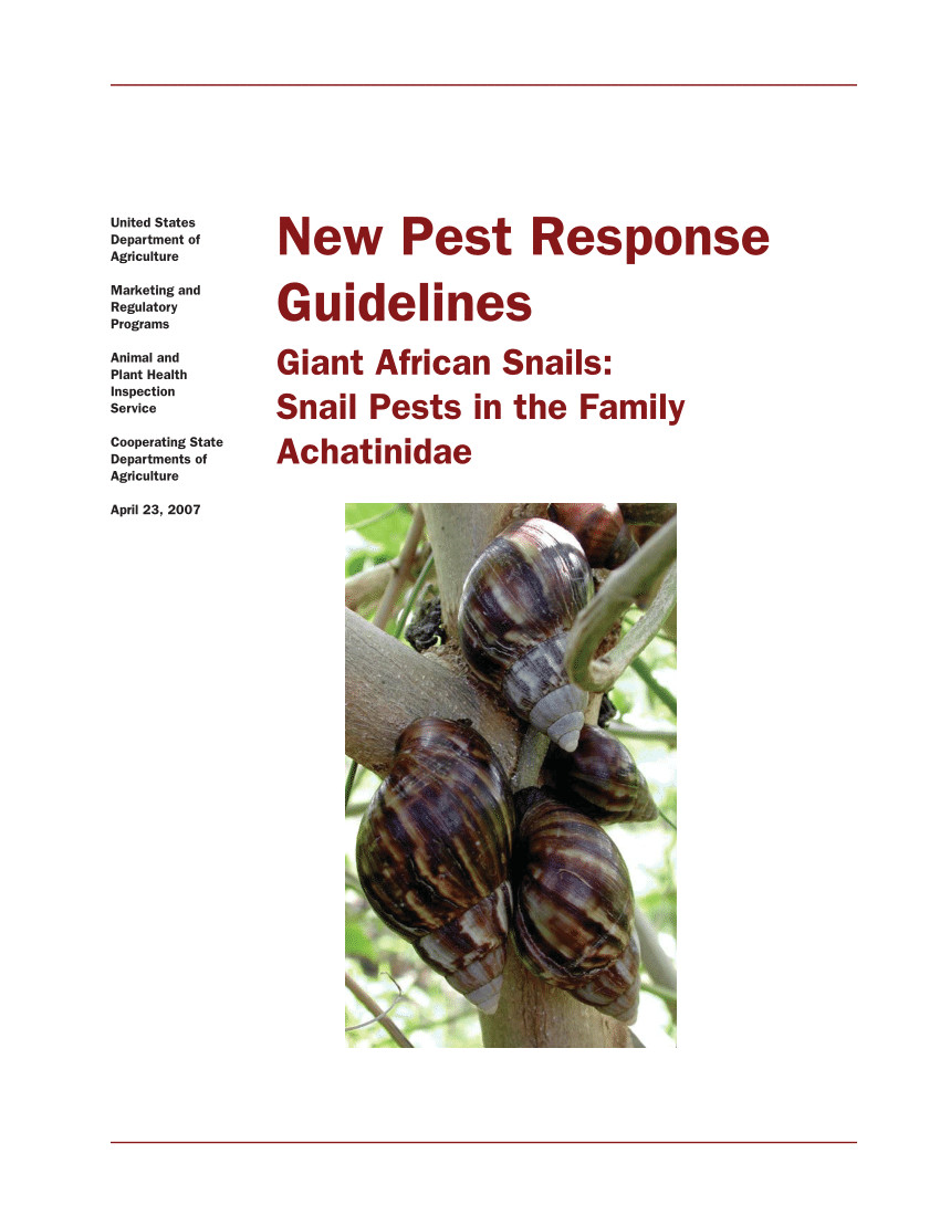 pdf new pest response guidelines giant african snails snail pests in the family achatinidae