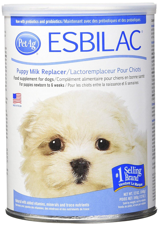 amazon com esbilaca powder milk replacer for puppies dogs 12oz pet milk replacers pet supplies