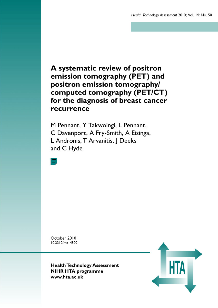 pdf a systematic review of positron emission tomography pet and positron emission tomography computed tomography pet ct for the diagnosis of breast