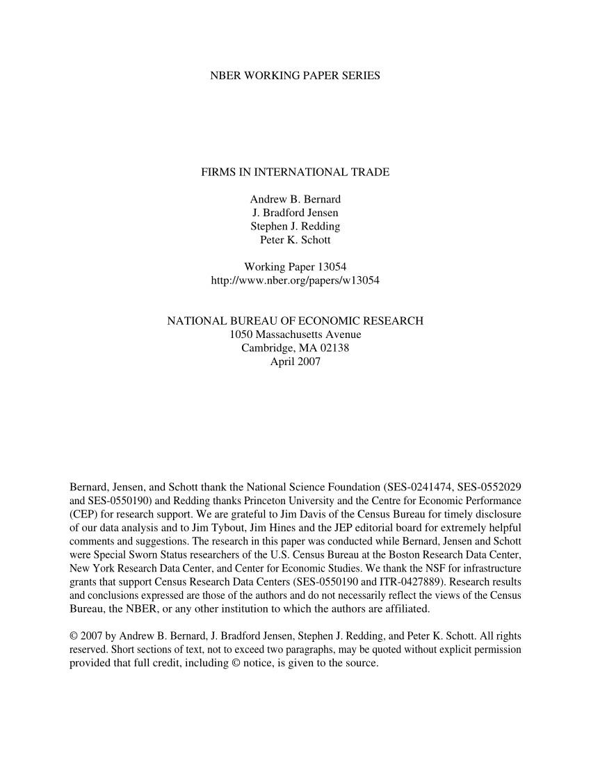 pdf firms in international trade