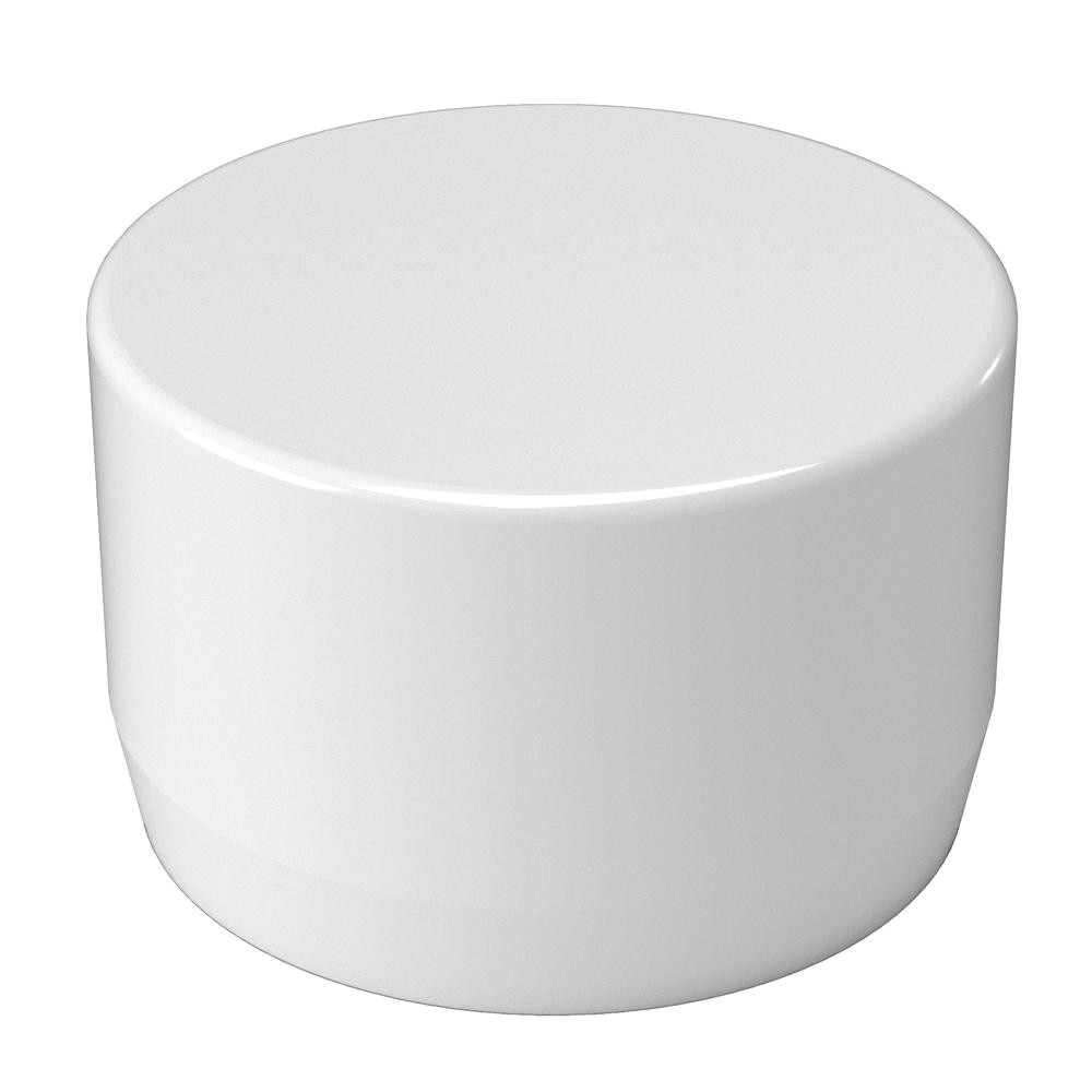furniture grade pvc external flat end cap in white 10 pack f114eec wh 10 the home depot