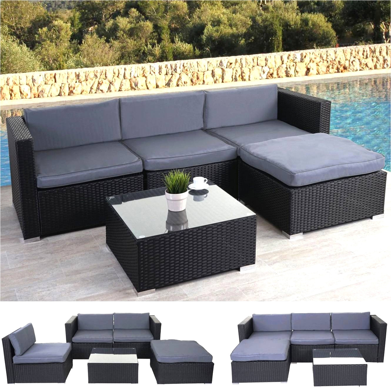 rattan sofa ausziehbar luxus lounge balkonmobel outdoor wood chair lovely lounge balkonmobel 0d