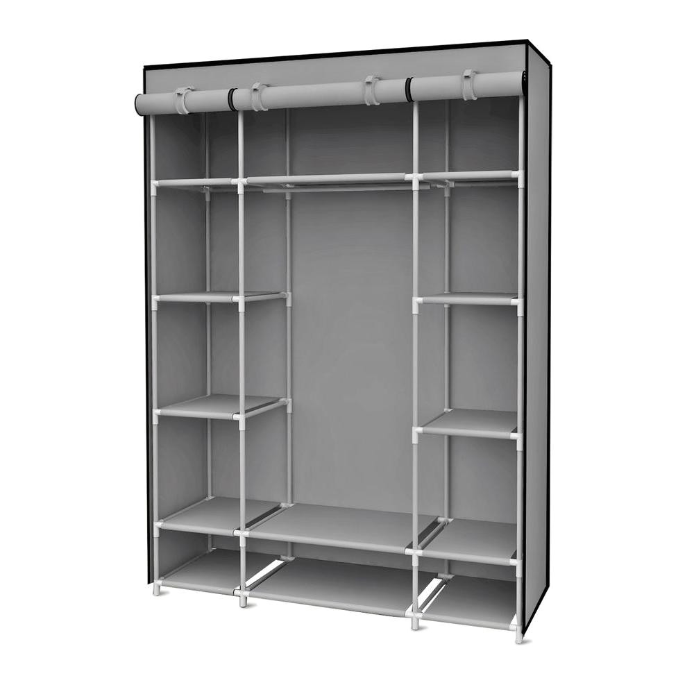 h gray storage closet with shelving sc01506 the home depot