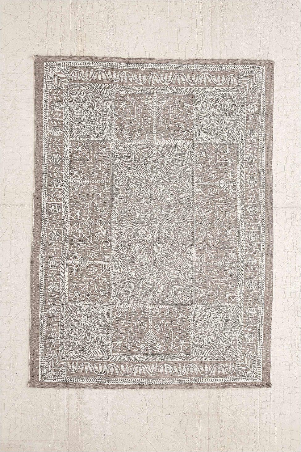 plum bow margarita stitch mark printed rug 5x7 99