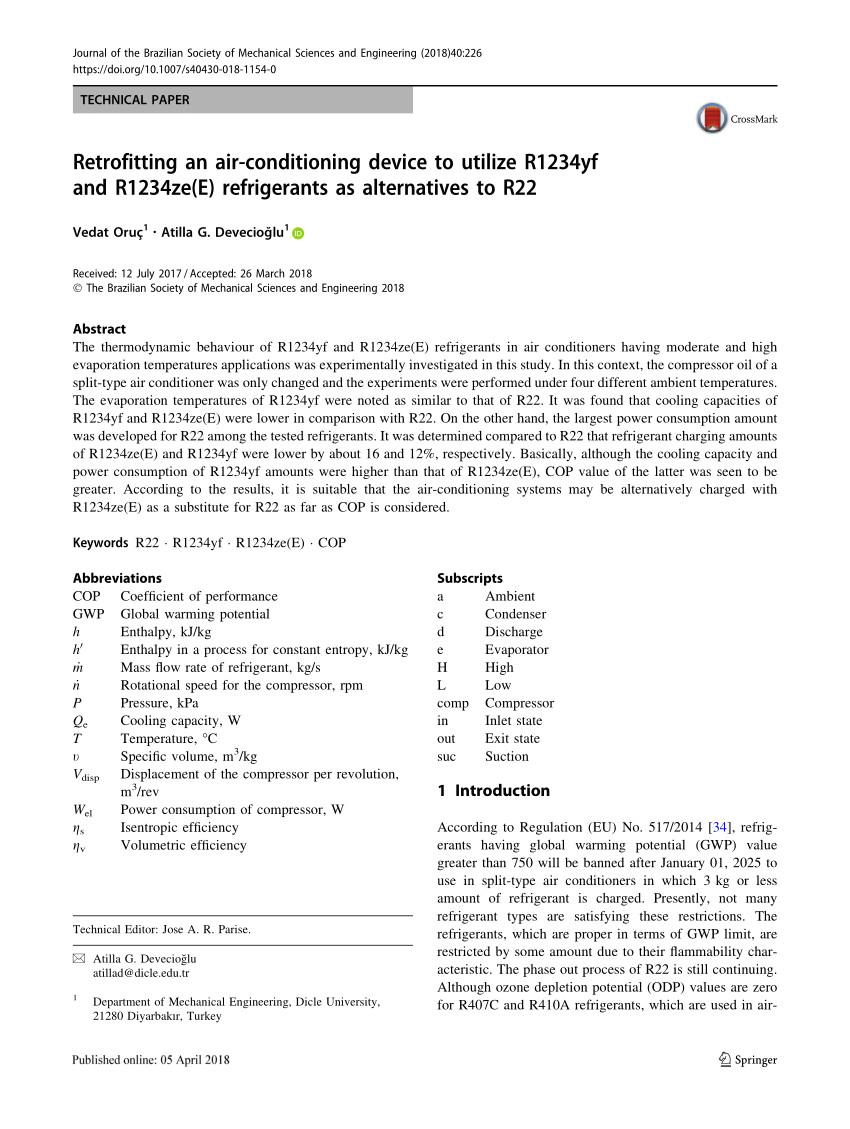 low gwp refrigerants r1234ze e and r1234ze z for high temperature heat pumps request pdf