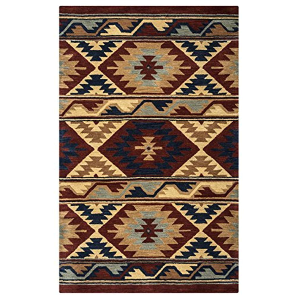 su2253 southwest 5 feet by 8 feet area rug red by rizzy home