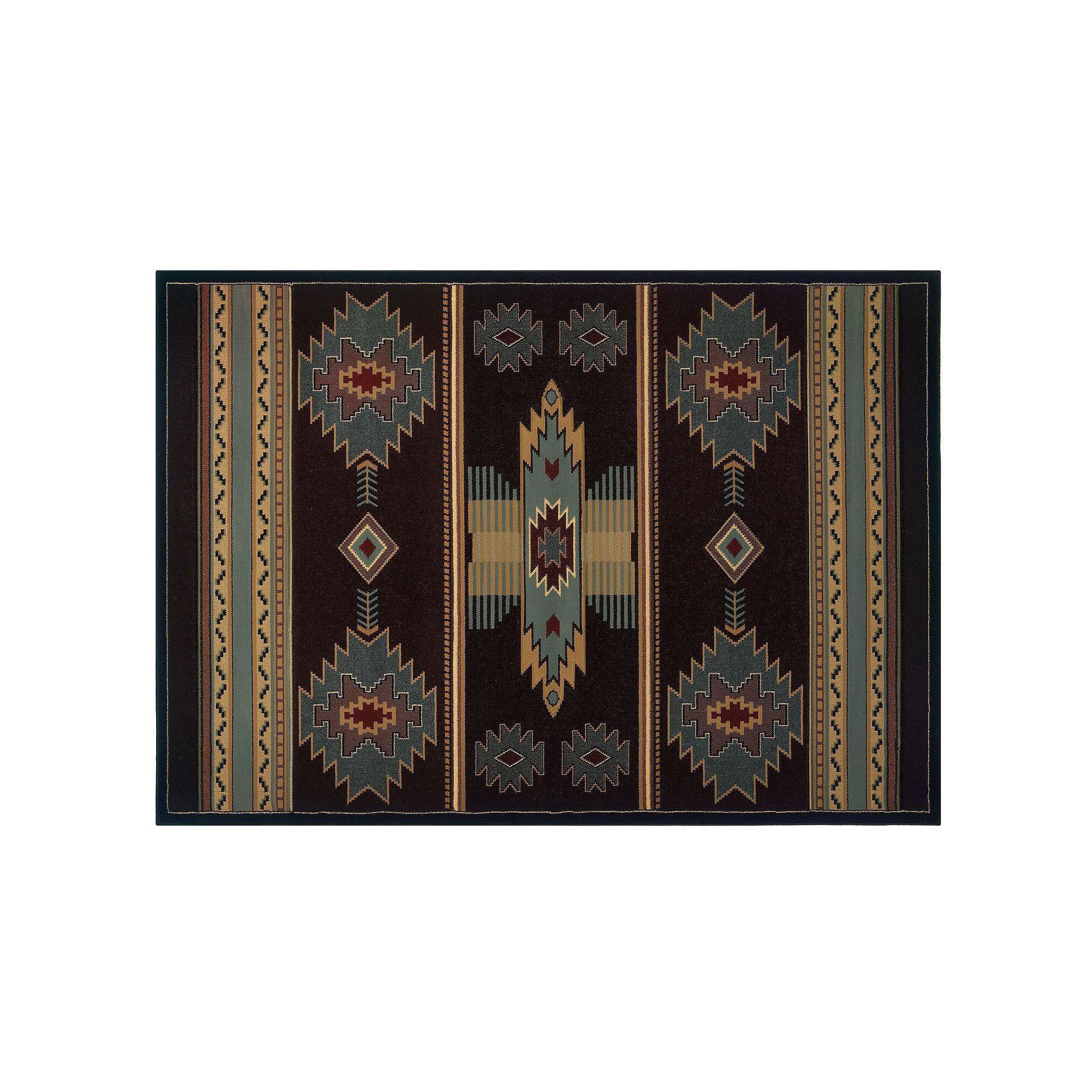united weavers designer contours native southwest rug blue