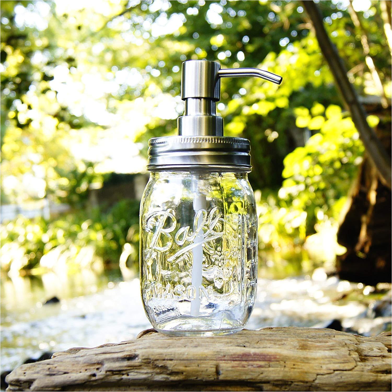 ball mason seifenspender transparent 470 ml soap jar amazon de kuche haushalt