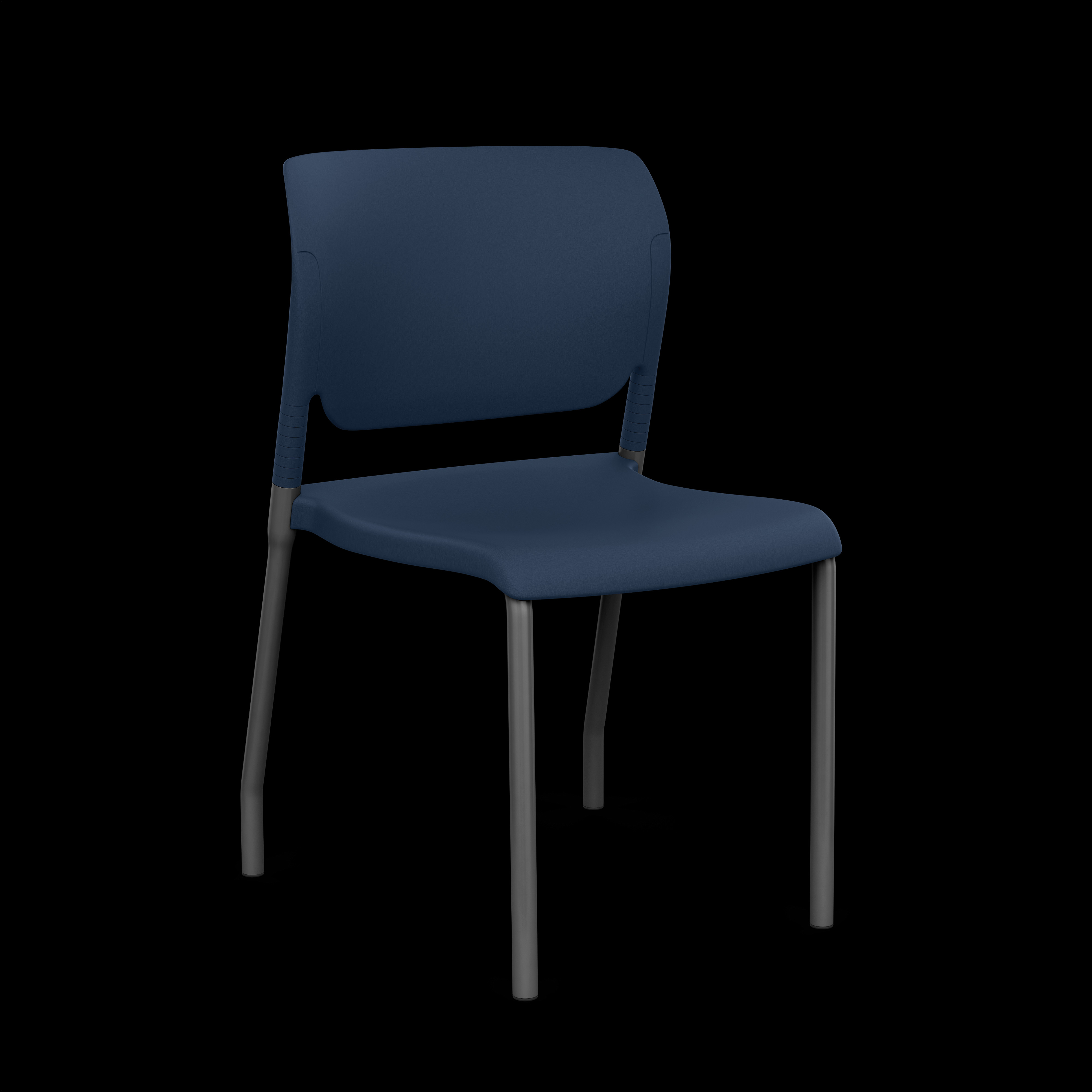 inflex plastic side chair armless