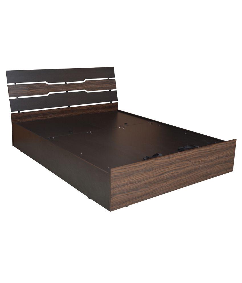 crystal furnitech leon king size manual lift storage bed