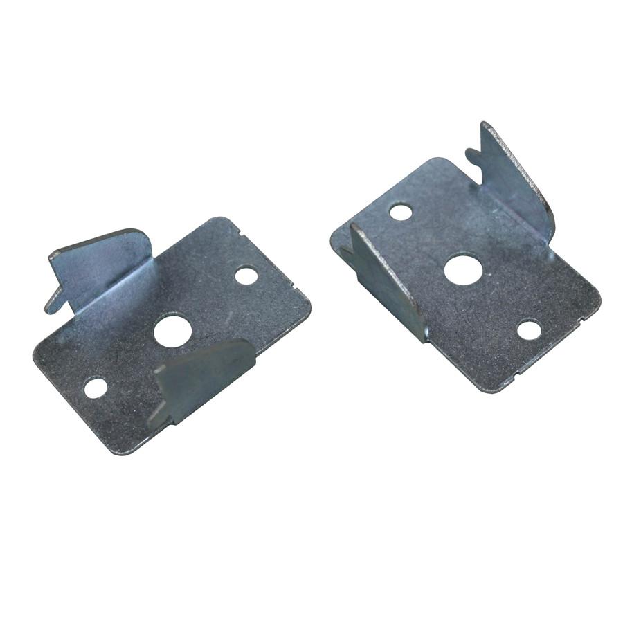 project source 2 pack zinc steel double curtain rod brackets