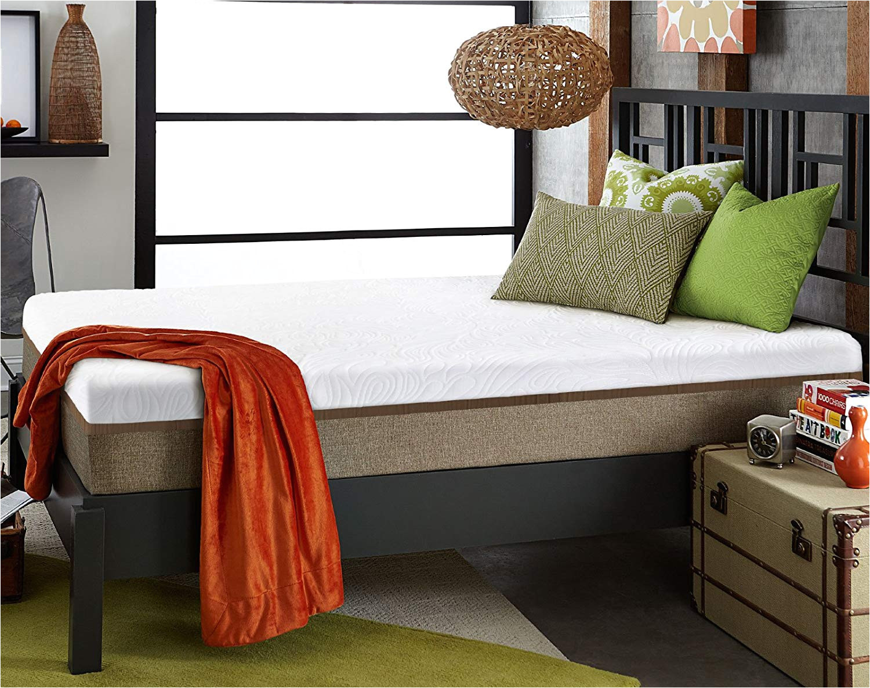 amazon com live sleep ultra king mattress gel memory foam mattress 12 inch king size medium firm bed in a box bonus luxury form pillow certipur