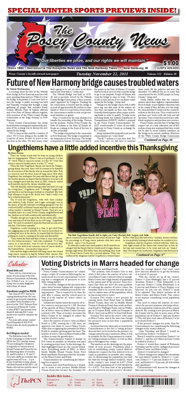 november 22 2011 the posey county news by the posey county news issuu