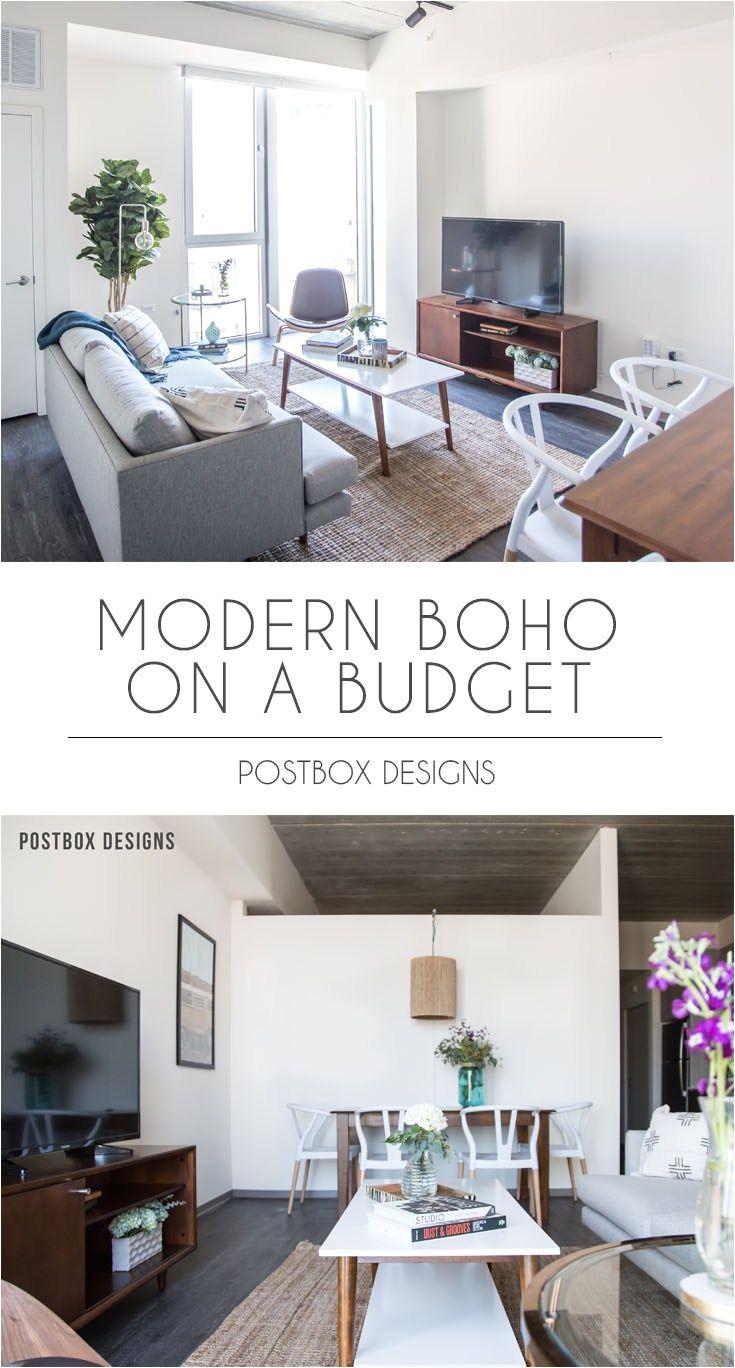 postbox designs interior e design modern boho dining room living room makeover reveal online interior design sonder