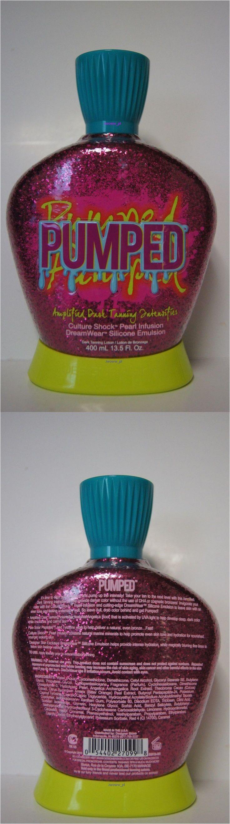 tanning lotion new designer skin pumped amplified dark tanning intensifier silicone emulsion buy