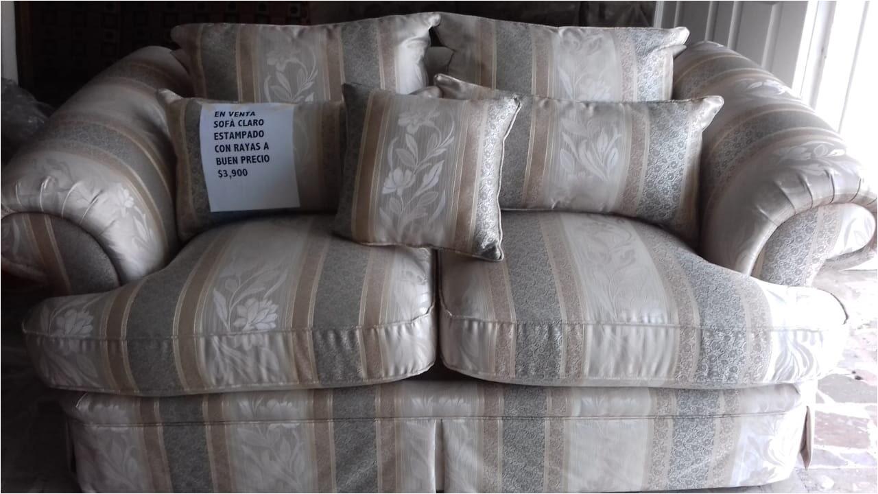 tapicerias obregon sofa de 3 plazas estampado claro con rayas