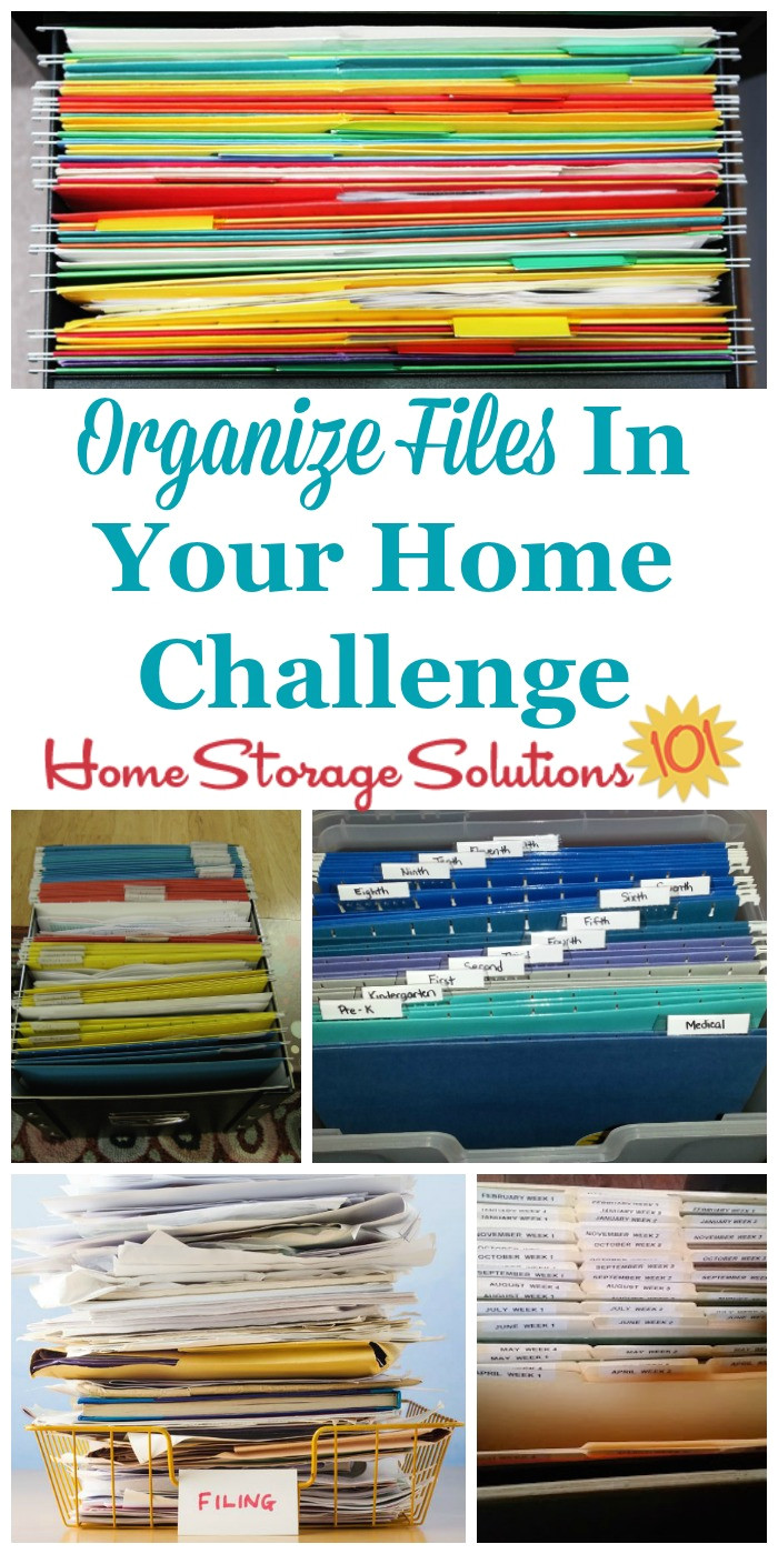 how to organize files and create a home filing system to keep all of the household