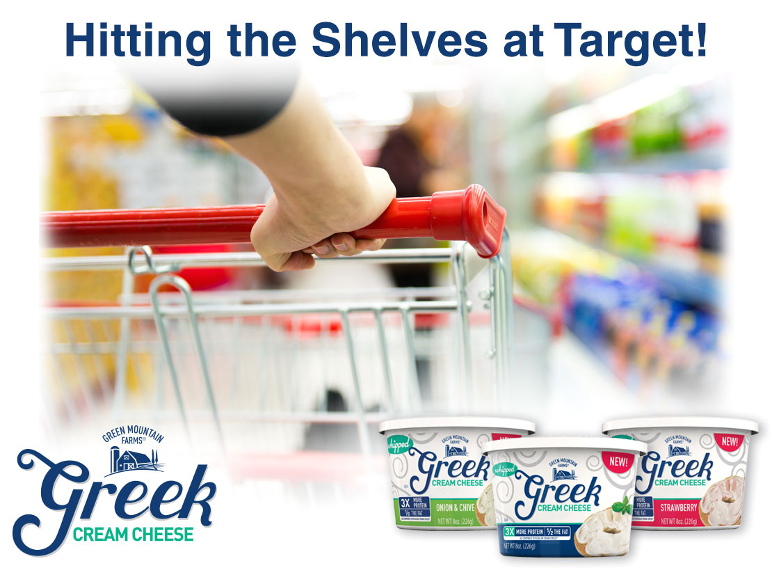 greek cream cheese hitting the shelves at target