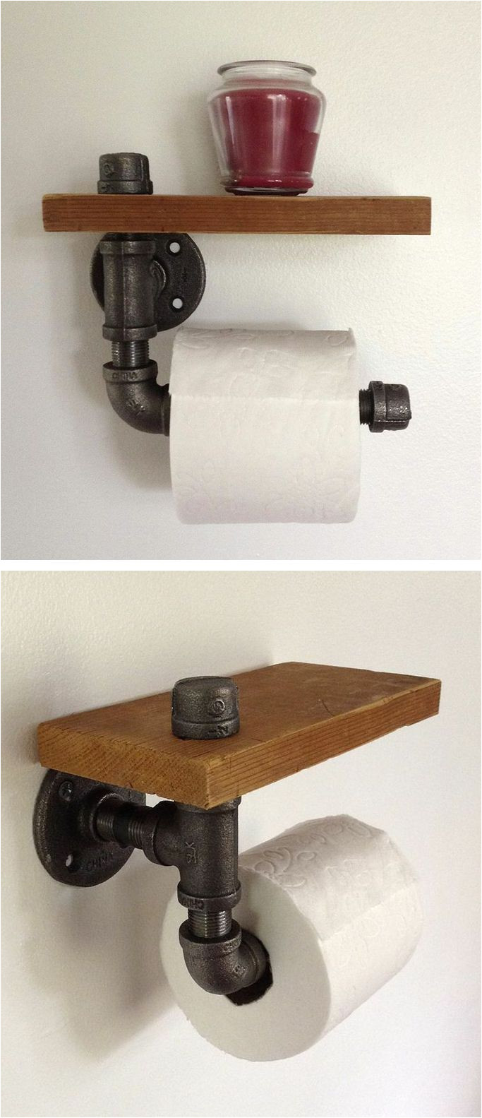 reclaimed wood pipe toilet paper holder a http hellosociety com