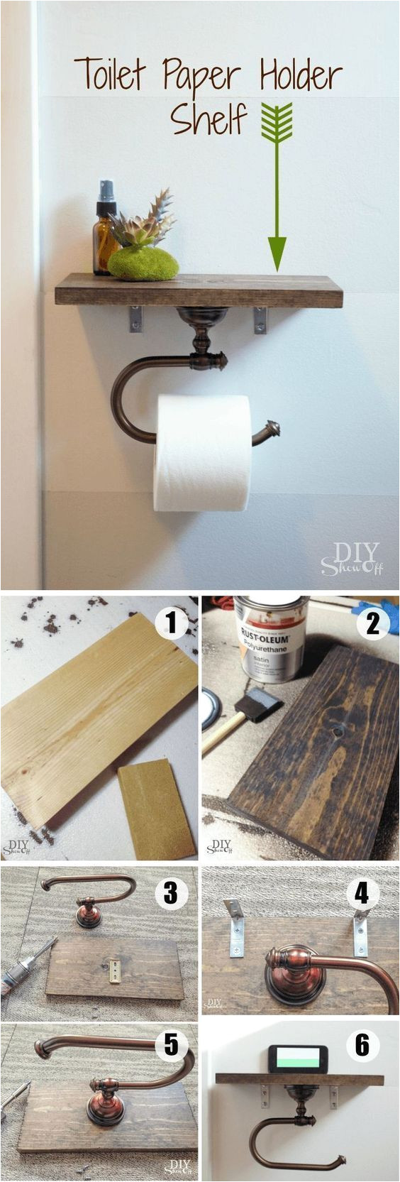 diy toilet paper holder with shelf use this clever and functional toilet paper holder to keep small handy bathroom accessories or to create attractive