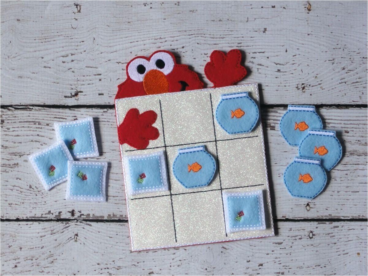 elmo tic tac toe ith embroidery design uncle matt s crib