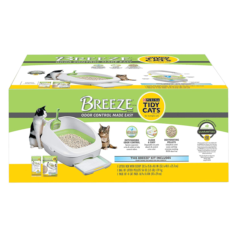 amazon com purina tidy cats breeze cat litter system starter kit pet supplies