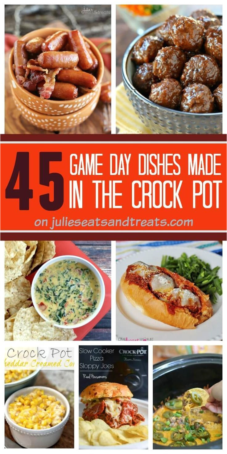 45 delicious game day recipes that are made in your crock pot sandwiches dips