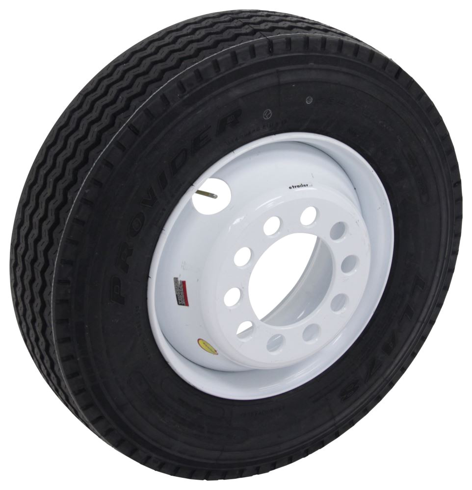 provider 235 75r17 5 radial tire w 17 1 2 white dual wheel offset 10 on 8 3 4 lr j taskmaster tires and wheels a235j 10