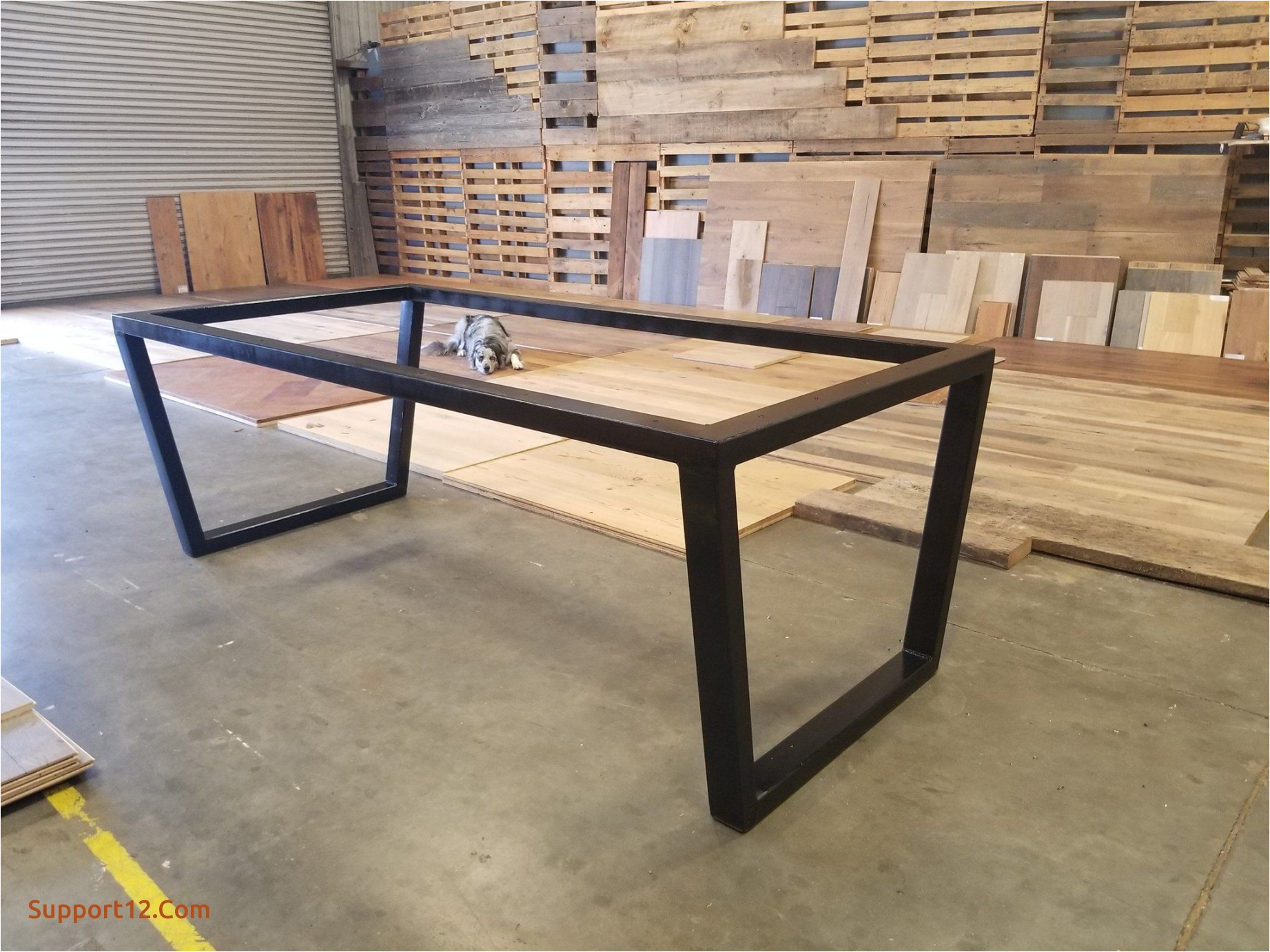 metal dining table legs inspirational custom upside down trapezoid leg metal table base