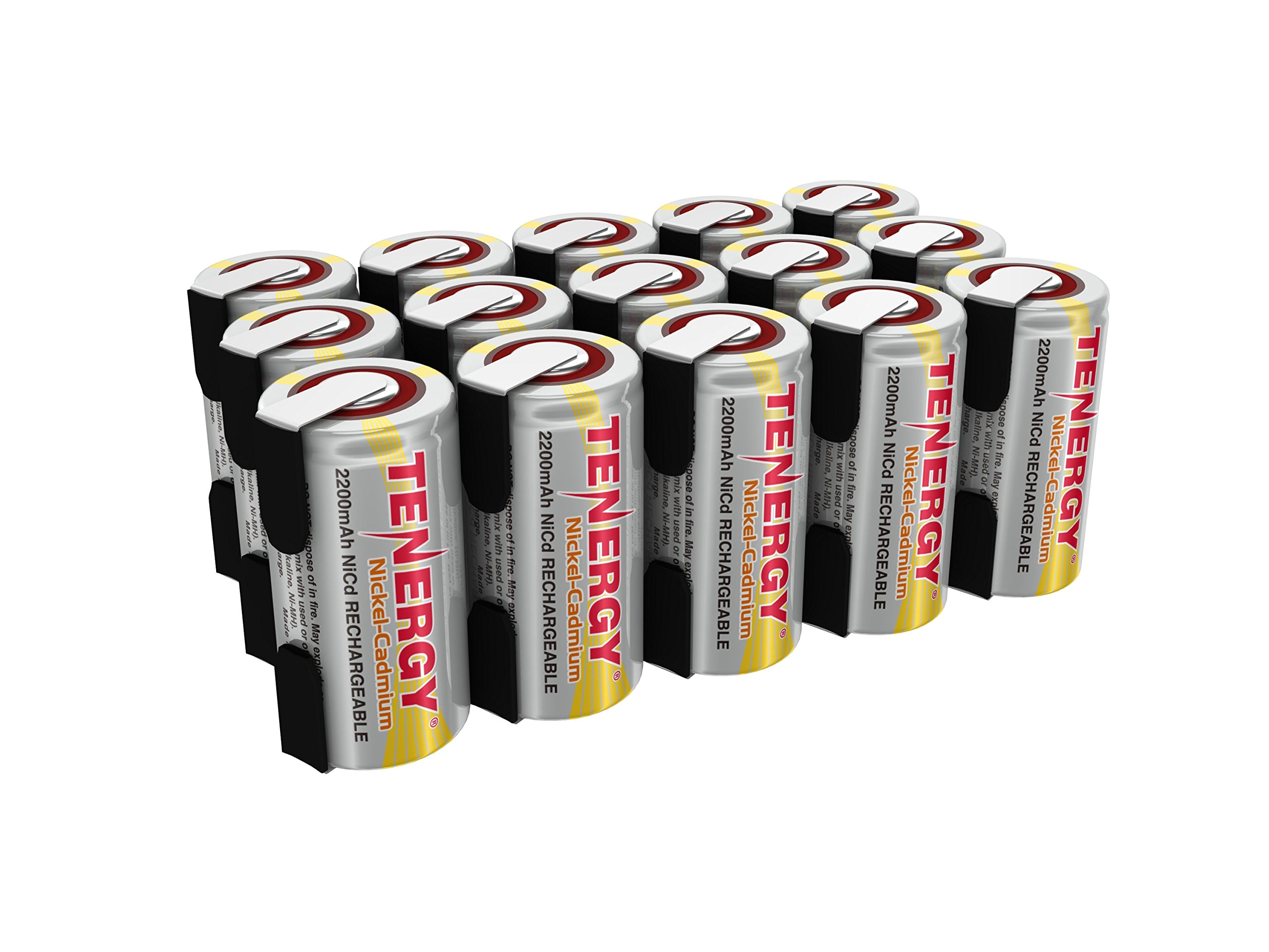tenergy 2200mah sub c nicd battery for power tools 1 2v flat top rechargeable sub