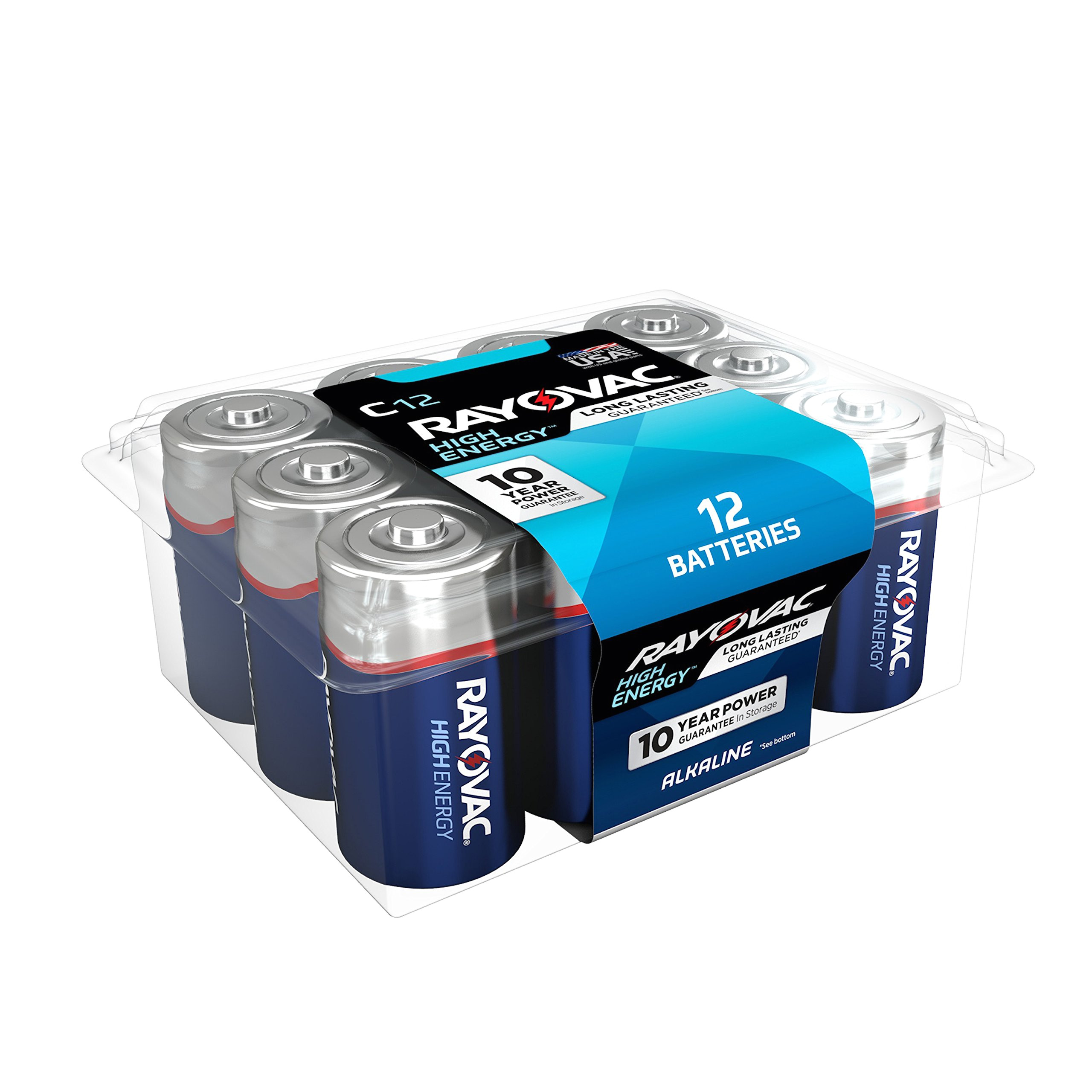 rayovac c batteries alkaline c cell batteries 12 battery count product image