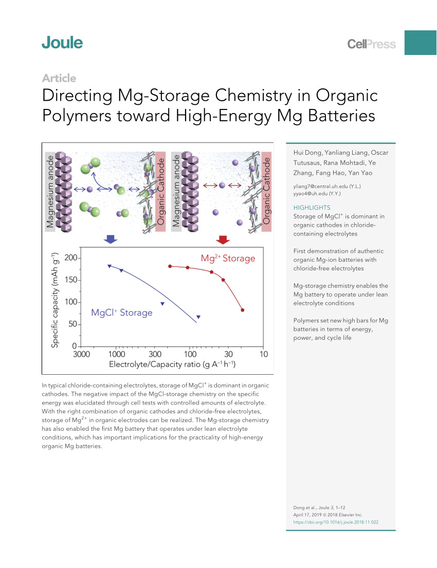 pdf an ultrafast rechargeable aluminium ion battery