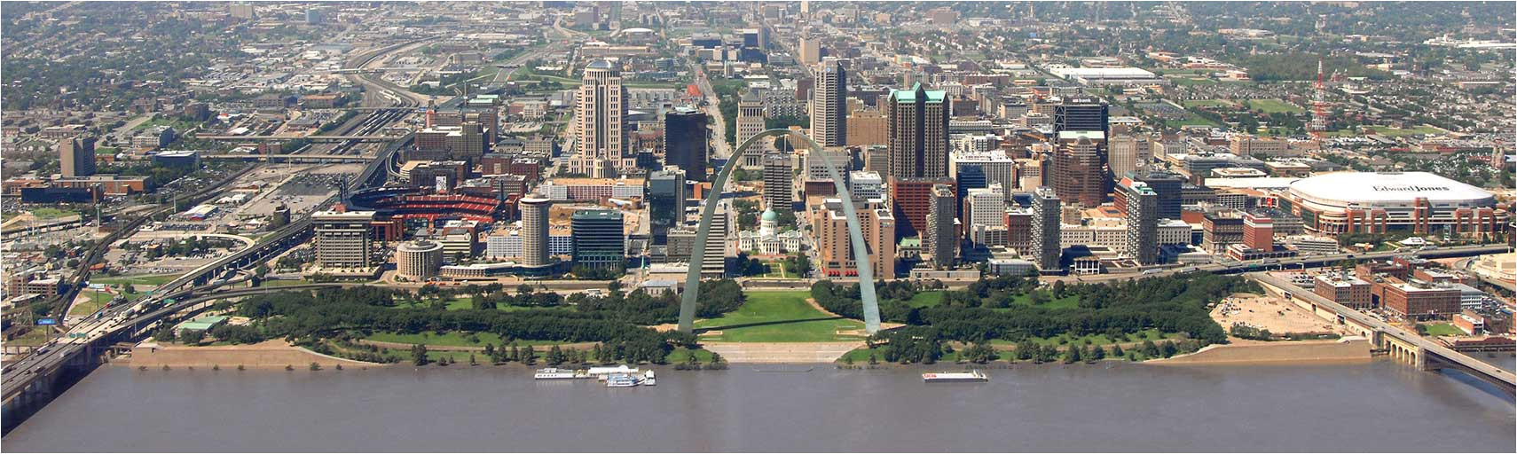 searchable map and satellite view of saint louis missouri