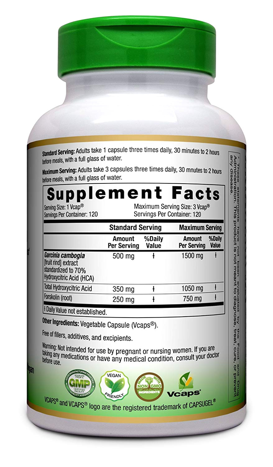 amazon com ayunutrients garcinia cambogia 70 hca pure extract 120 veggie caps made in usa weight management fat metabolism health personal care