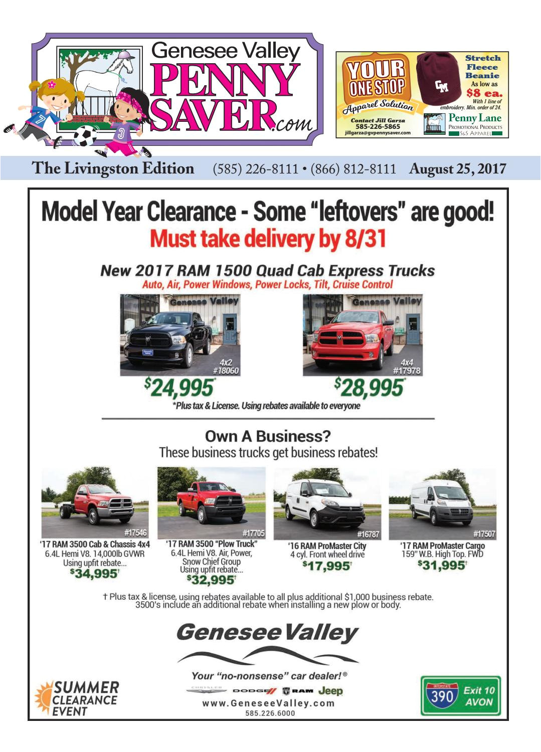 the genesee valley penny saver livingston edition 8 25 17 by genesee valley publications issuu