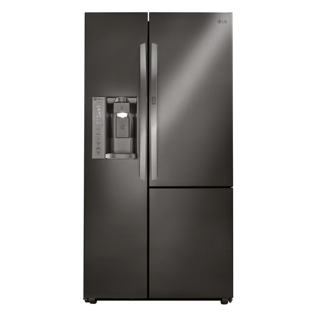 side by side smart refrigerator with door in door