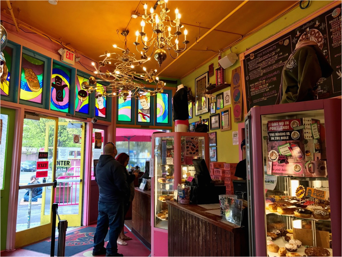 7 things to do in portland oregon eat a voodoo doughnut in the first unmistakable store