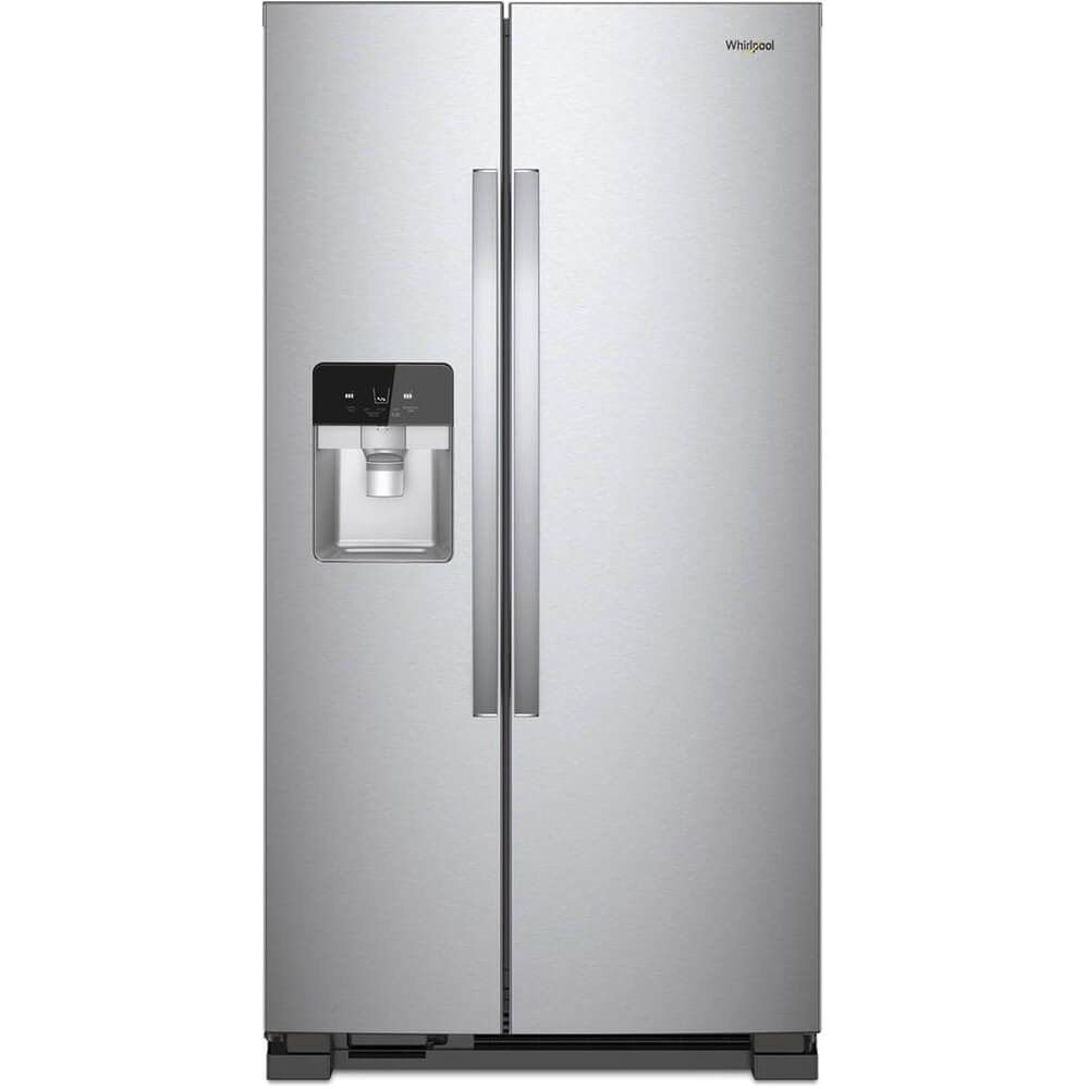 amazon com whirlpool wrs321sdhz 21 cu ft stainless side by side refrigerator appliances