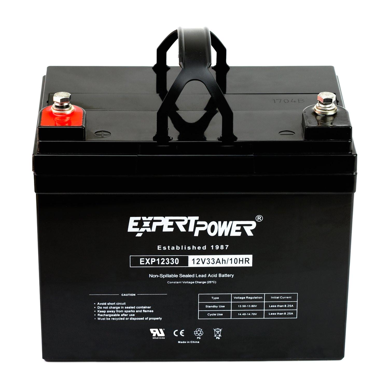 amazon com expertpower 12v 33ah rechargeable deep cycle battery exp12330 replaces 34ah 35ah 36ah automotive