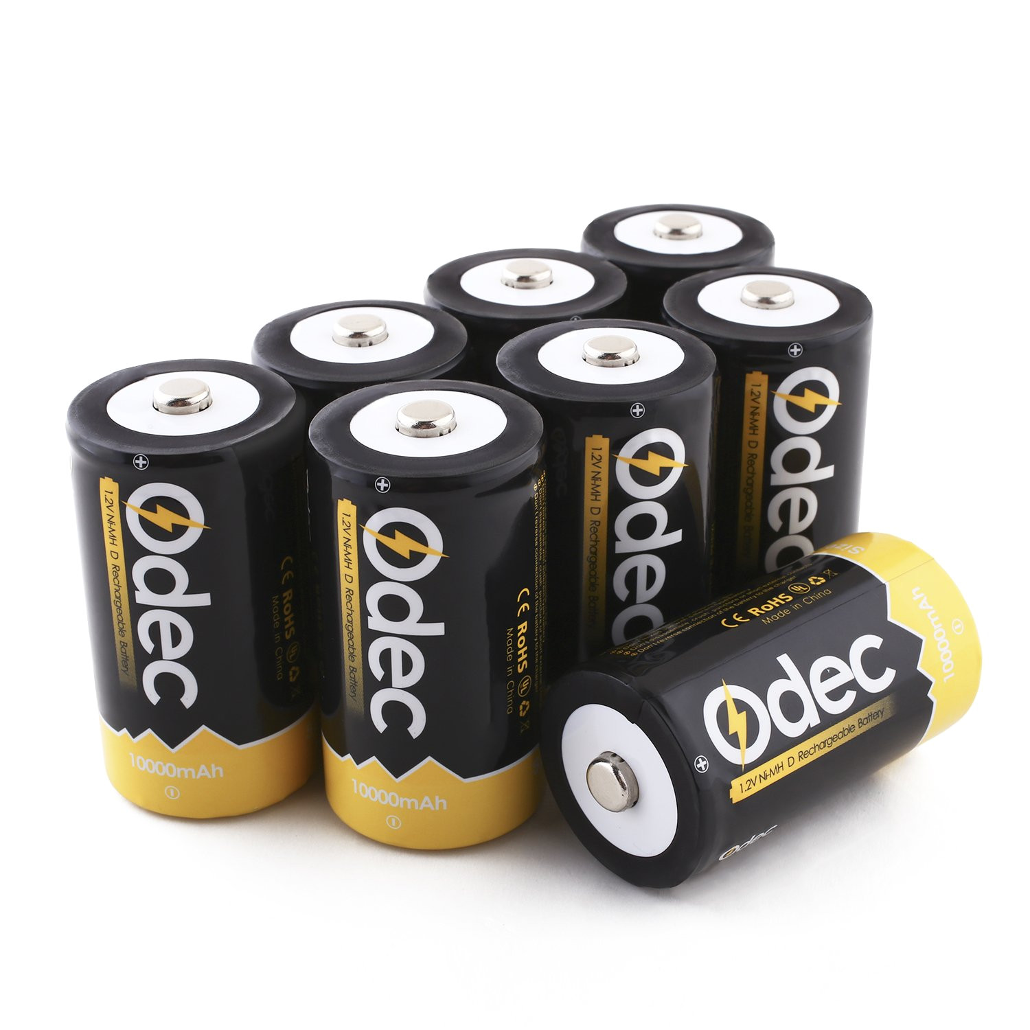 amazon com odec d cell rechargeable batteries 8 pack 10000mah deep cycle nimh battery home audio theater