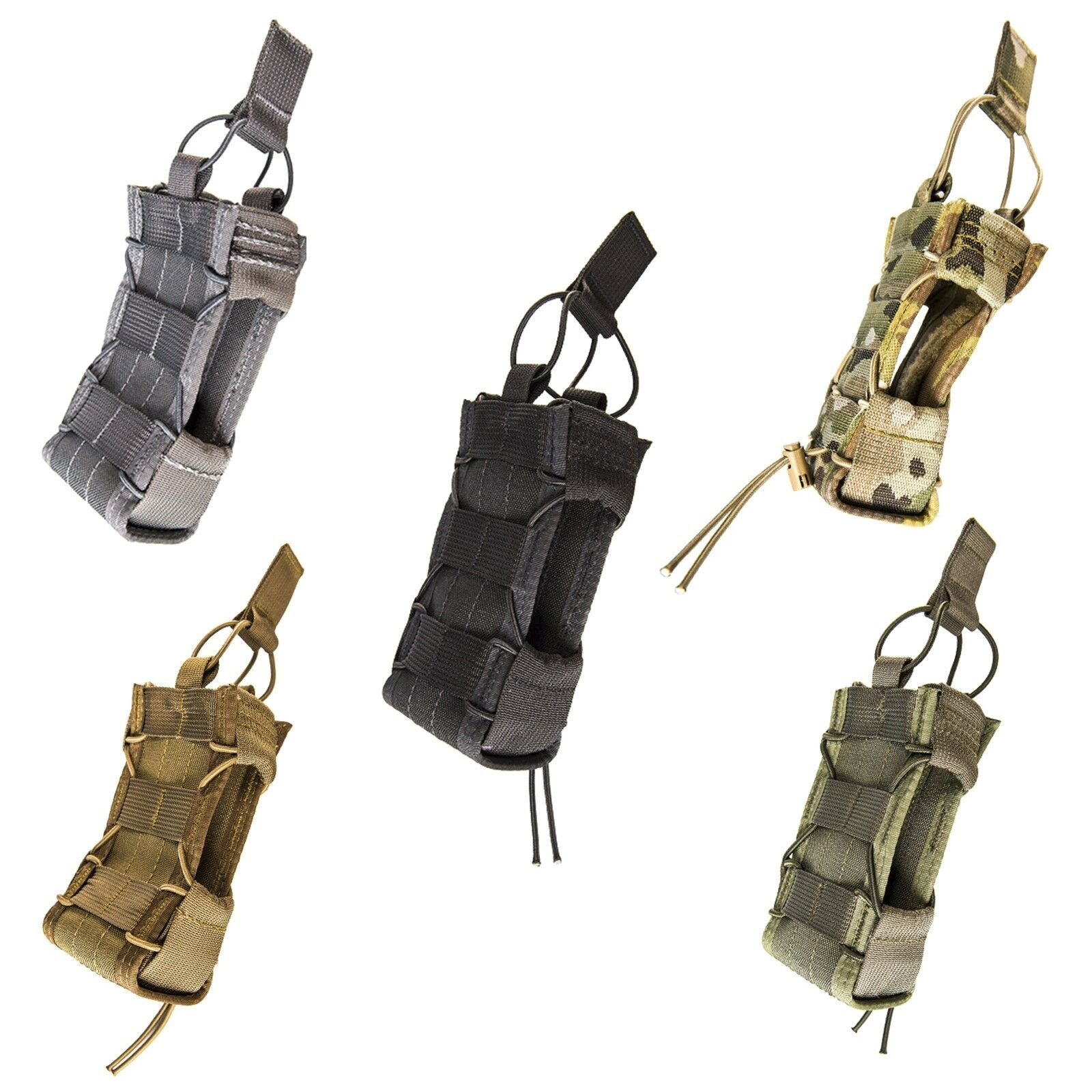 hsgi 13mac belt mounted open top multi access comm radio tool utility taco pouch