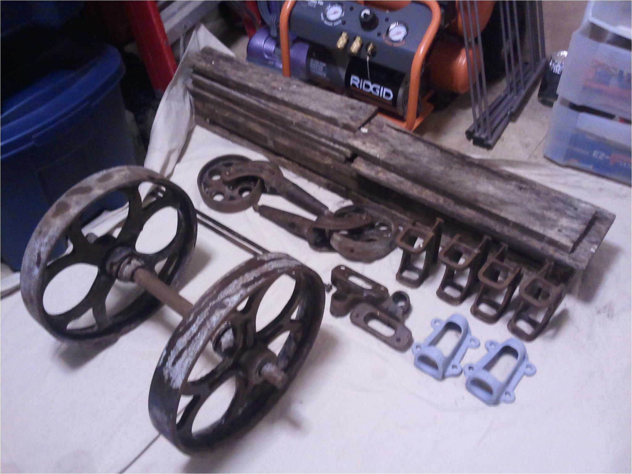 entire cart broken down all pieces organized
