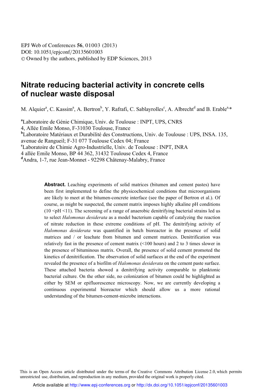 Waste Management Eau Claire Pdf Nitrate Reducing Bacterial Activity In Concrete Cells Of