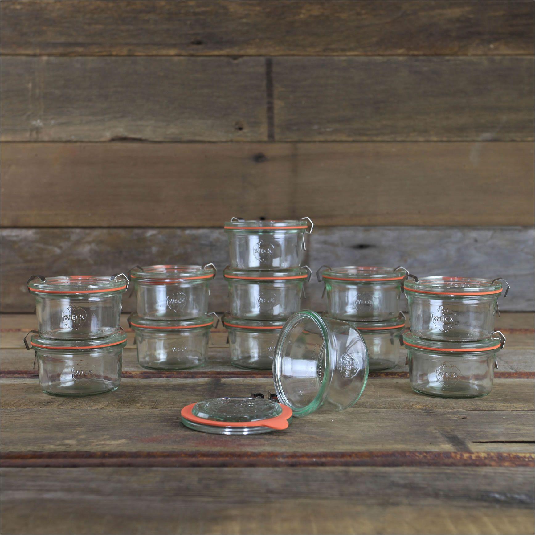 weck mold jars mini 5 6 oz case of 12 glass jars 976