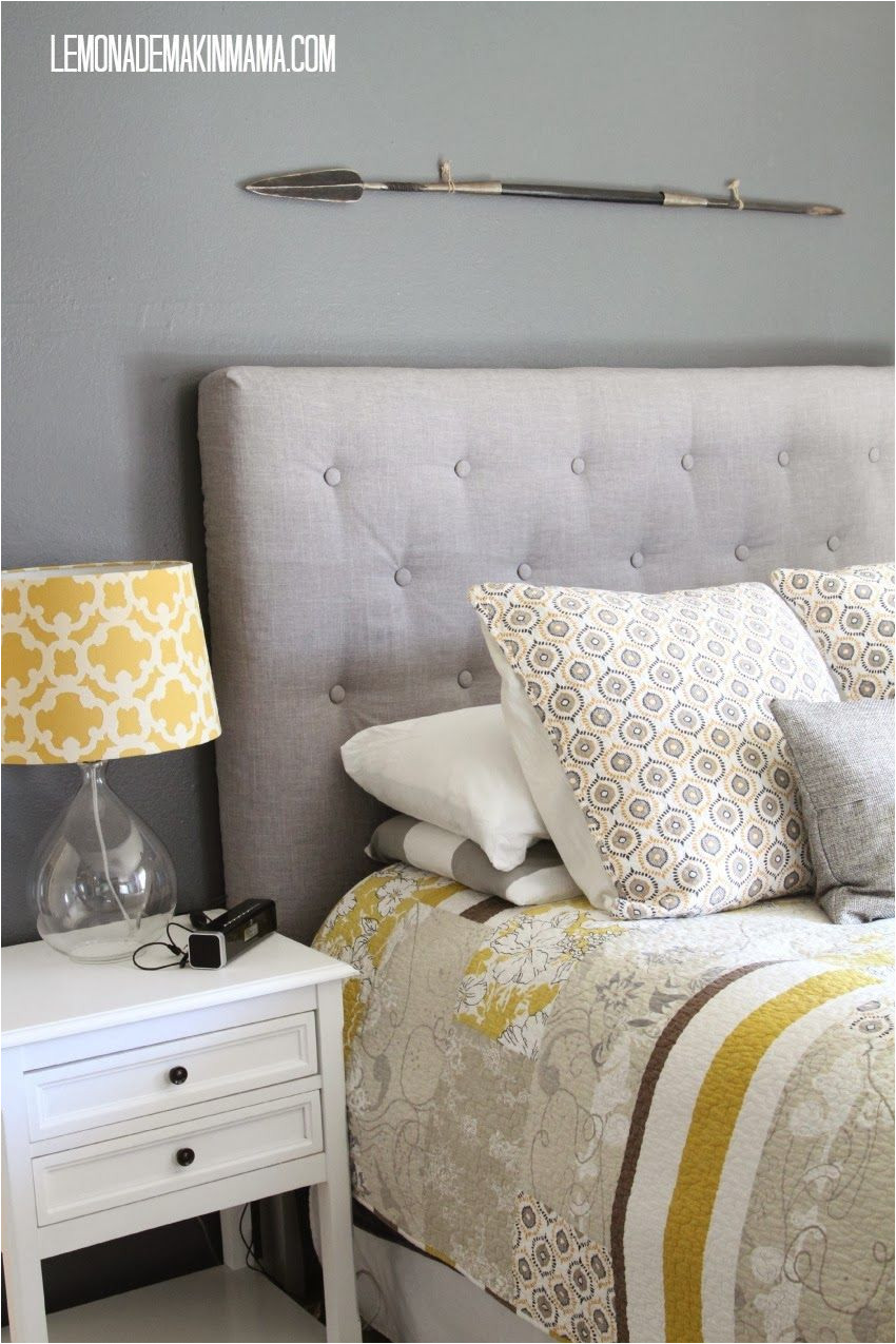 What Color Furniture Goes with Grey Headboard Make A Diy Tufted Headboard the Easy Cheater S Way Lemonade