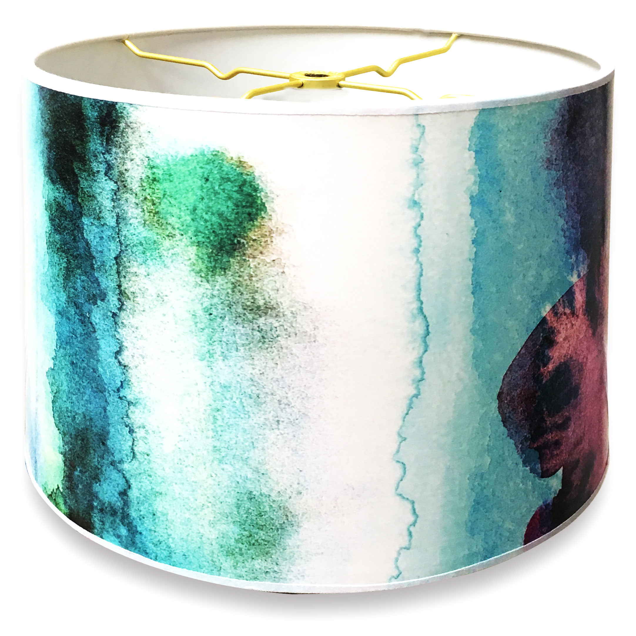 designer hard back 10 paper drum lamp shade