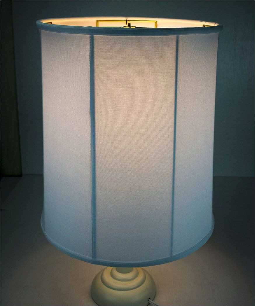 14x15x17 collapsible drum lampshade premium white linen with brass spider fitter by home concept perfect for