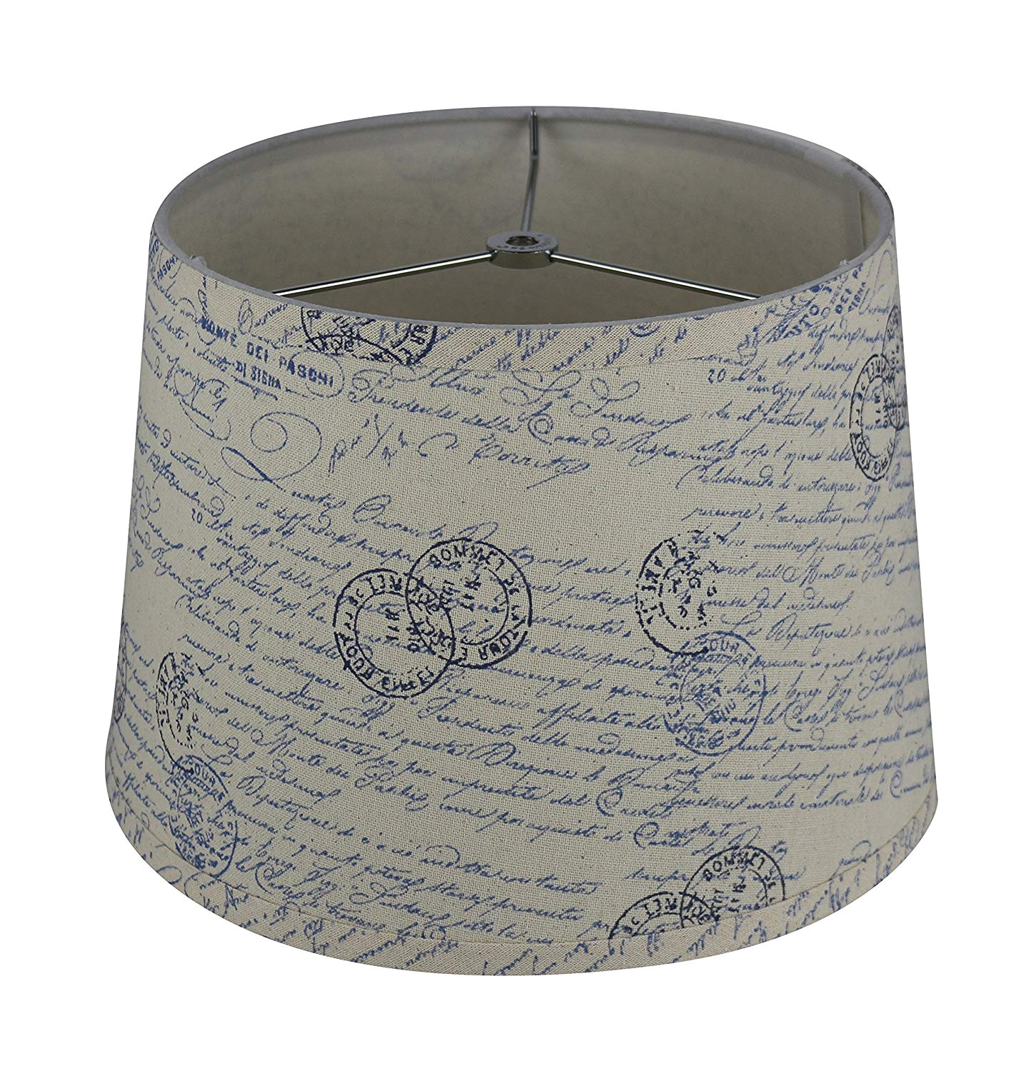 What is A Spider Fitter Lamp Shade Urbanest French Drum Lampshade Linen 10 Inch by 12 Inch by 8 1 2