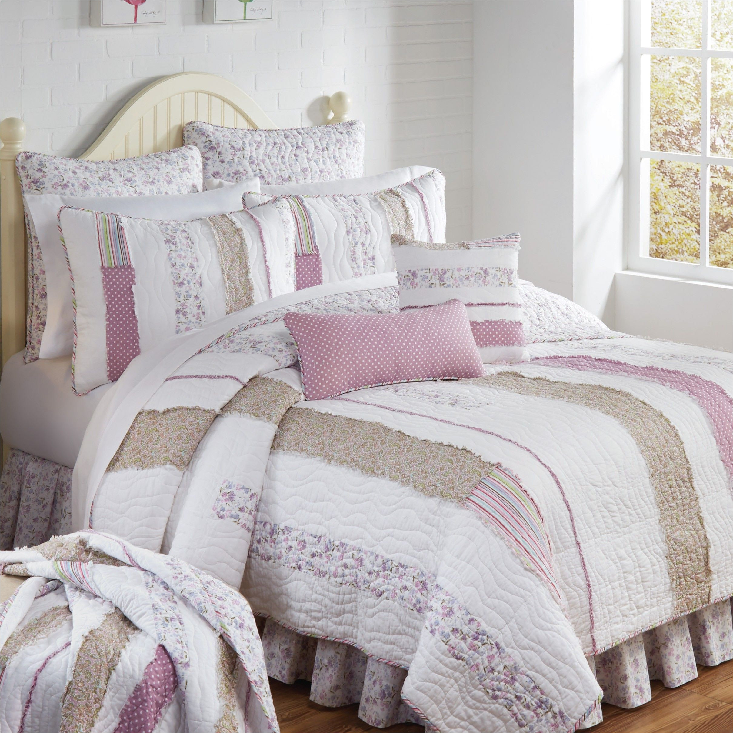 lavender rail quilted bedding collection donna sharp
